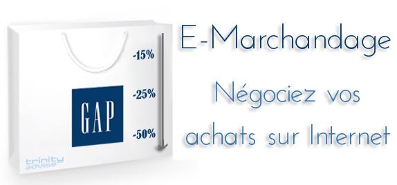 e-marchandage e-merchandising gap trinity advise